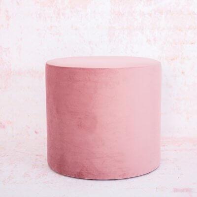 Puf o banqueta terciopelo rosa