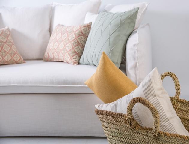 ¡Un lienzo en blanco! 3 ideas de inspiración con cojines decorativos