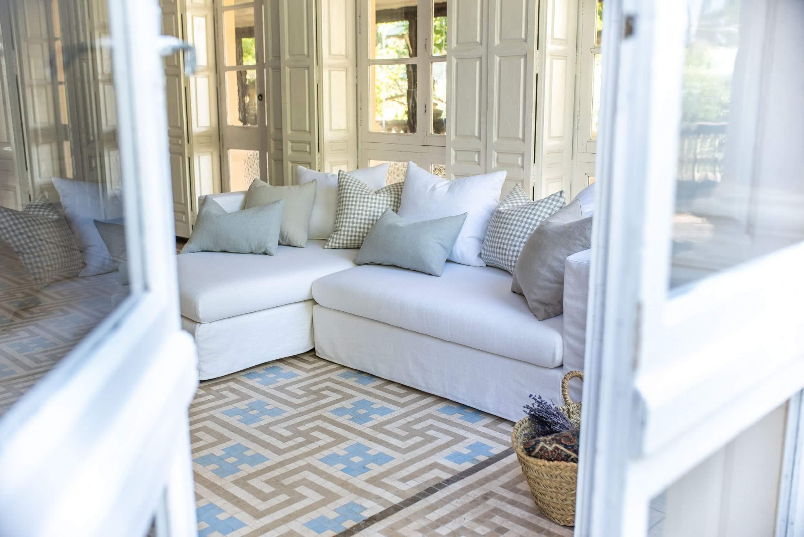 Sofás de lino