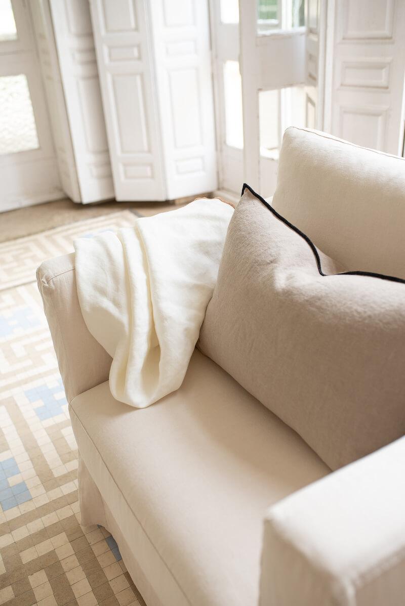 sillón desenfundable lino