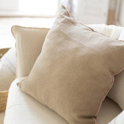 Cojín decorativo en lino desenfundable